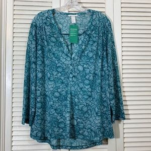 NWT H&M Floral Popover Tunic